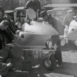 The first half of the 1940s was, of course, dominated by World War II. Volvo's production of vehicles for the private sector fell sharply,